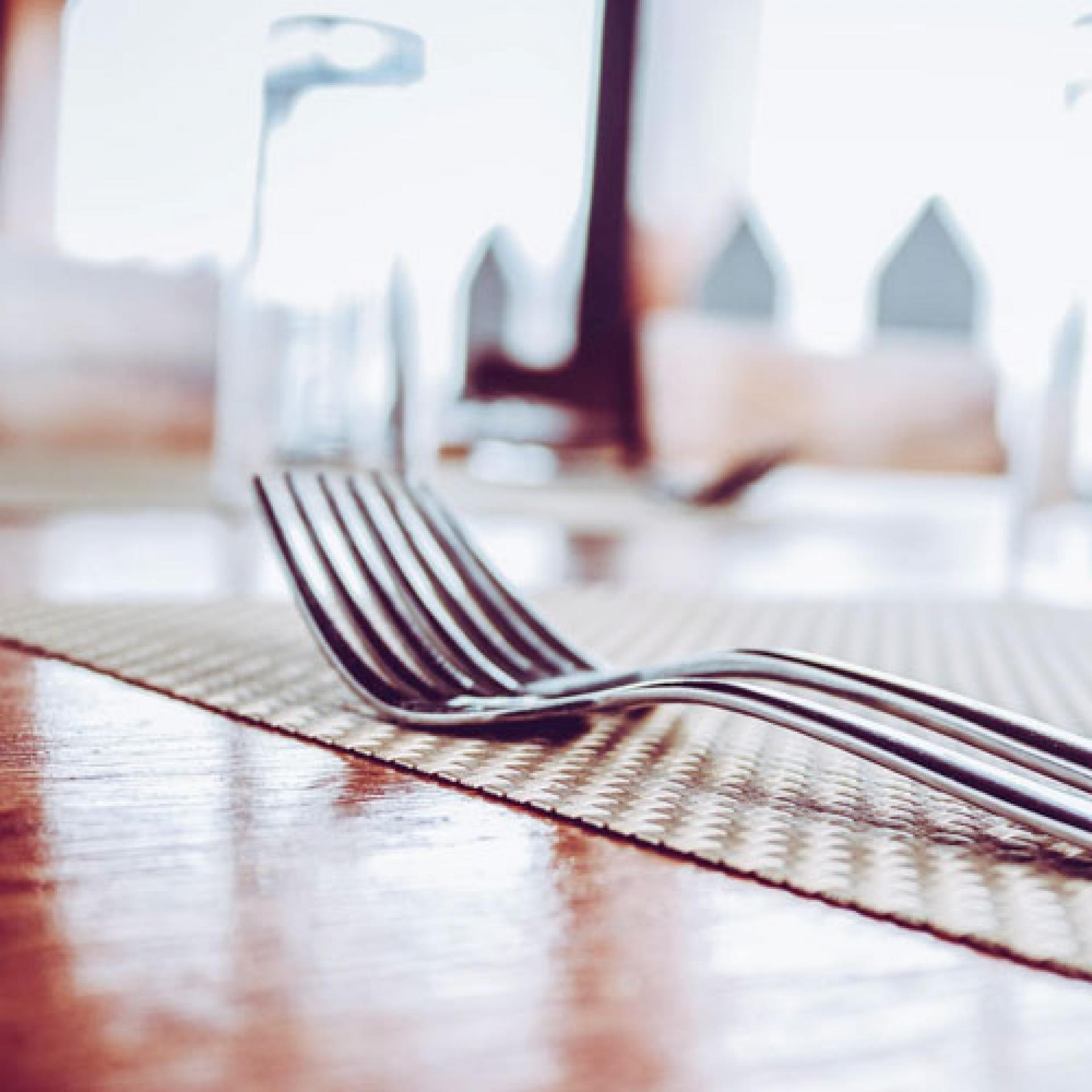 fork on a table